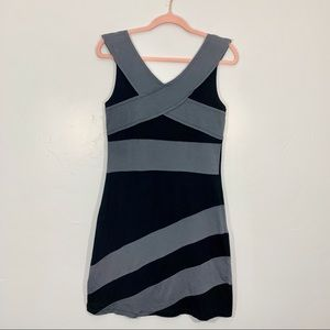 Synergy | Organic Cotton Gray Black Bodycon Dress